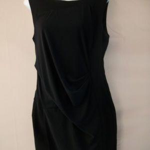Helmut Lang Sleeveless Ruched Side Dress Sz L